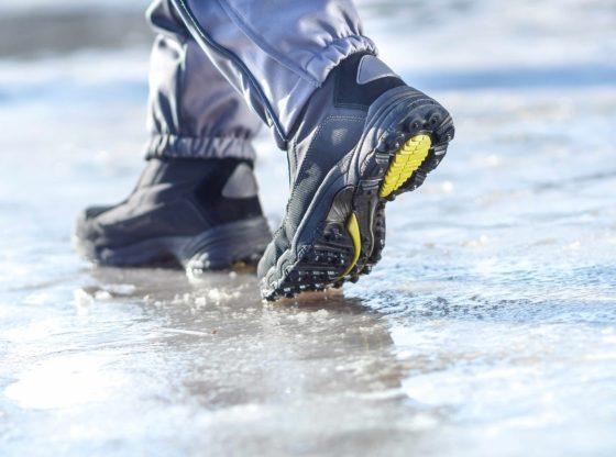 walking on ice steps