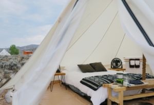 what is glamping camping
